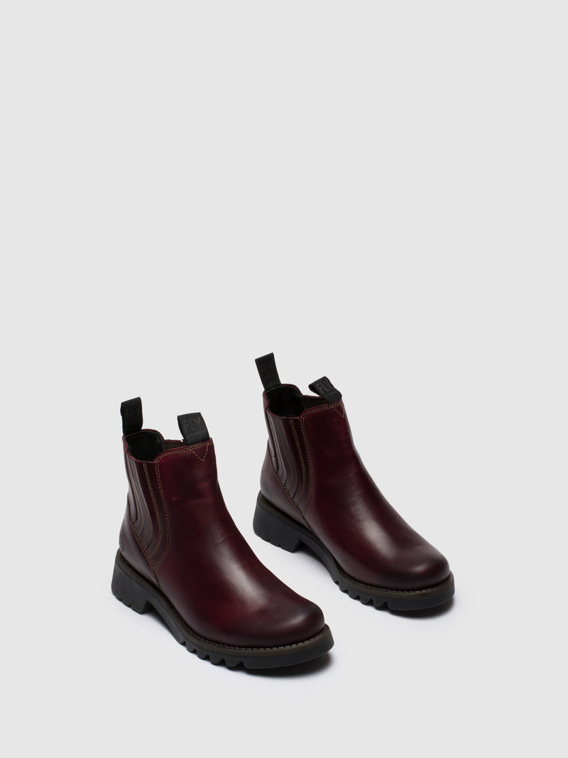 Purple Chelsea Ankle Boots