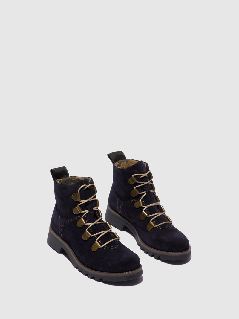 Fly London Lace-up Ankle Boots ROJI544FLY NAVY