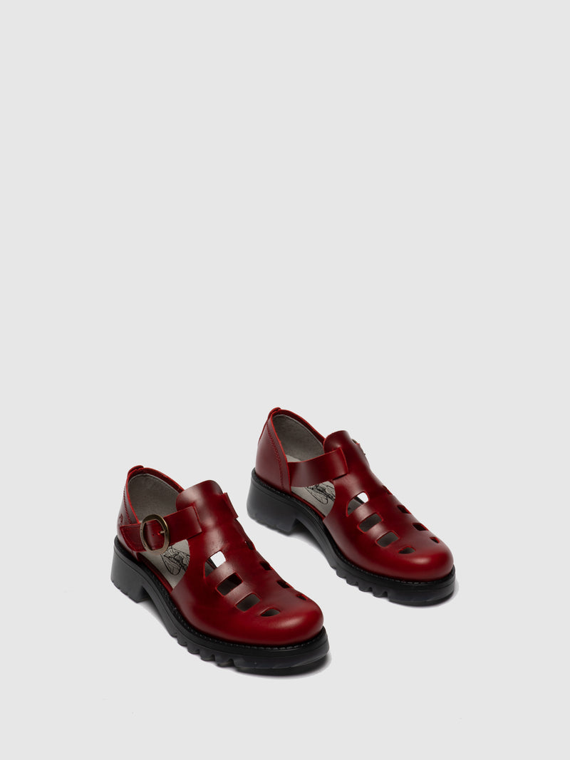 Red Buckle Shoes