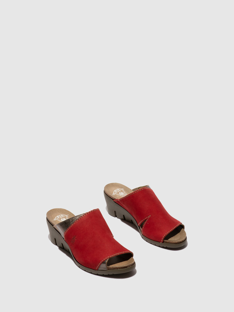 Open Toe Mules IDAR569FLY LIPSTICK RED/BRONZE
