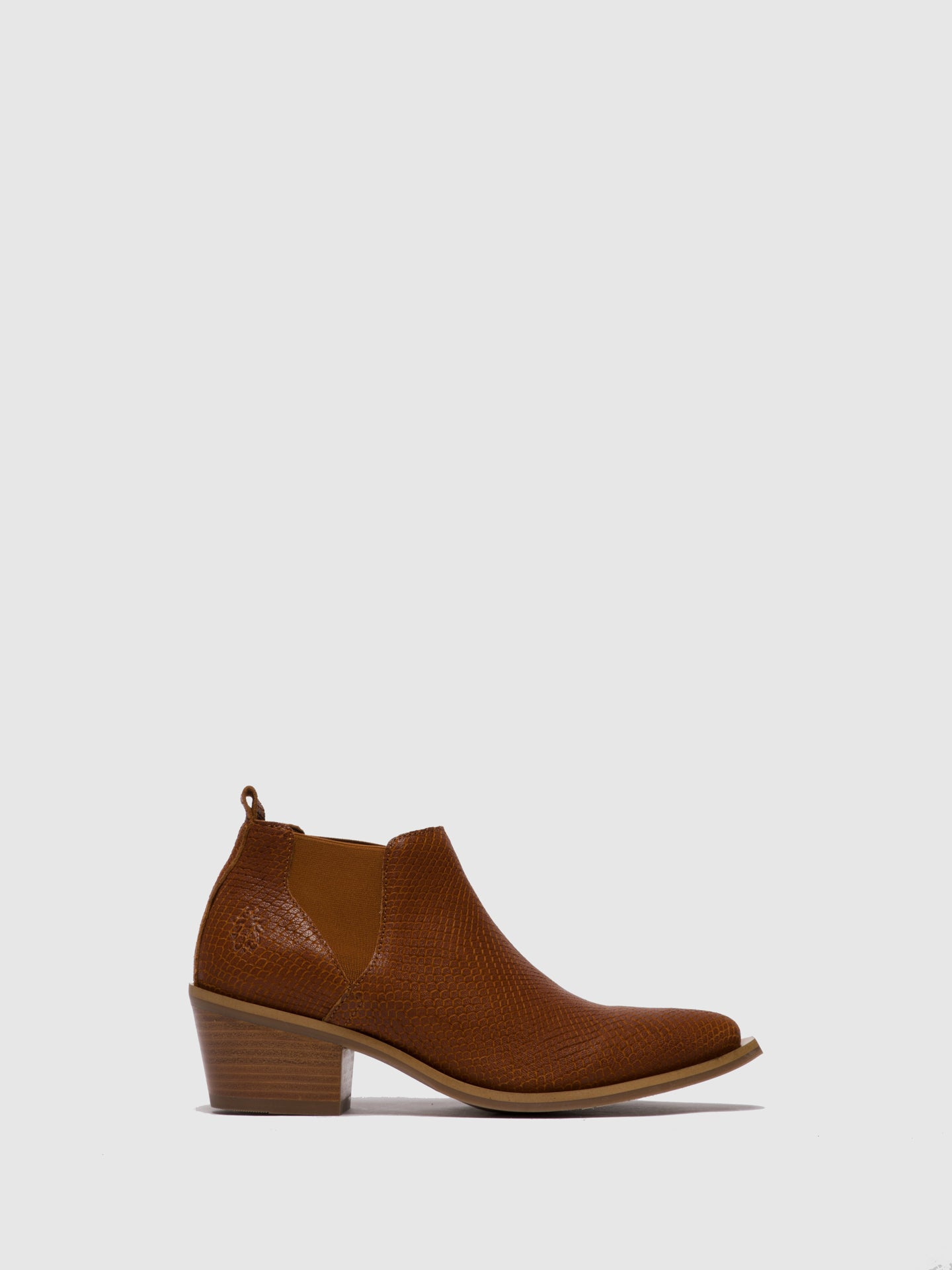 Fly London Tan Chelsea Ankle Boots