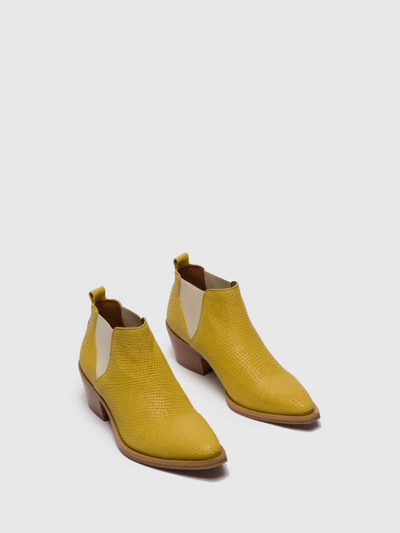 Fly London Yellow Chelsea Ankle Boots