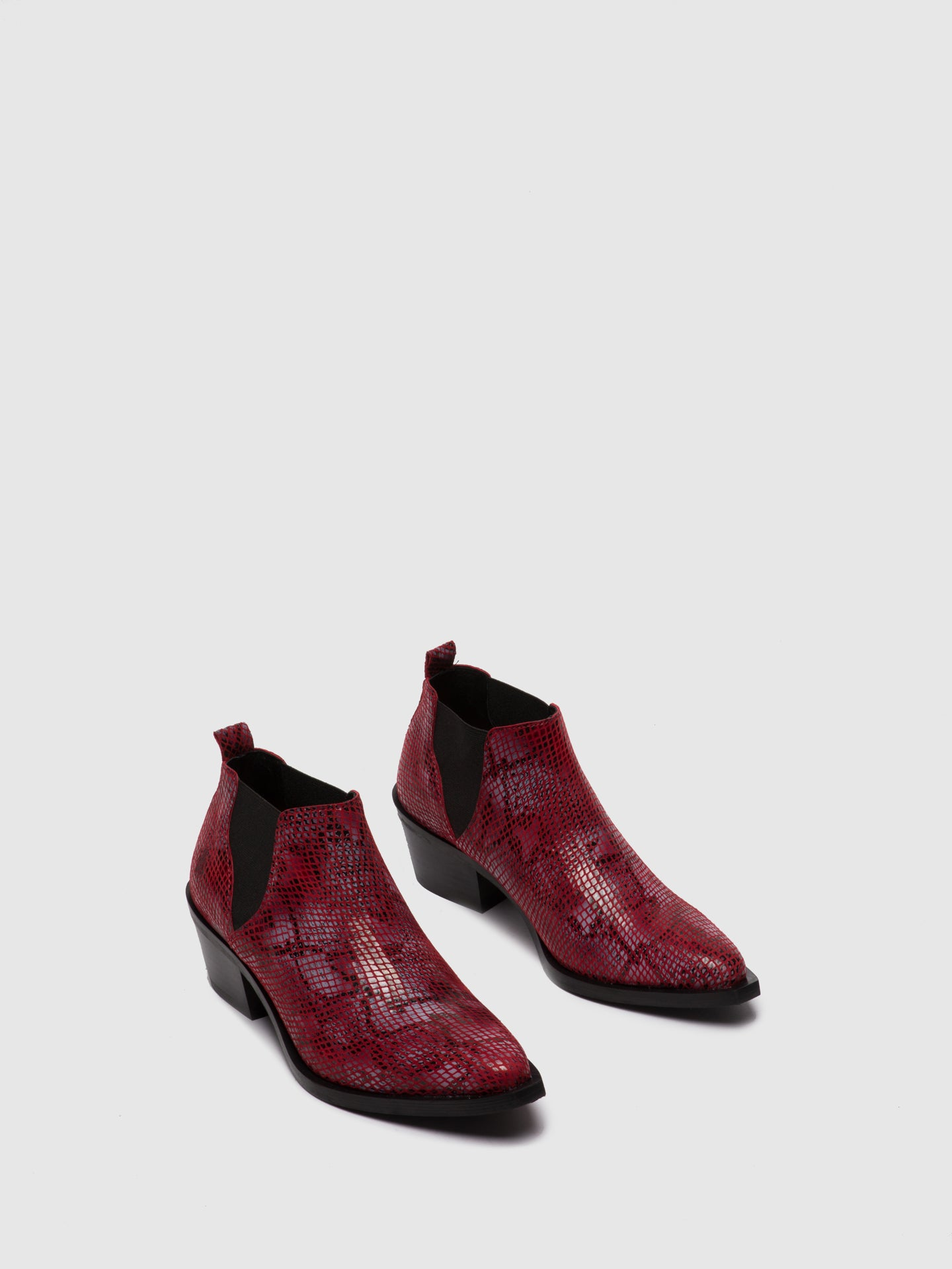 Fly London Chelsea Ankle Boots IGAN574FLY SNAKE RED