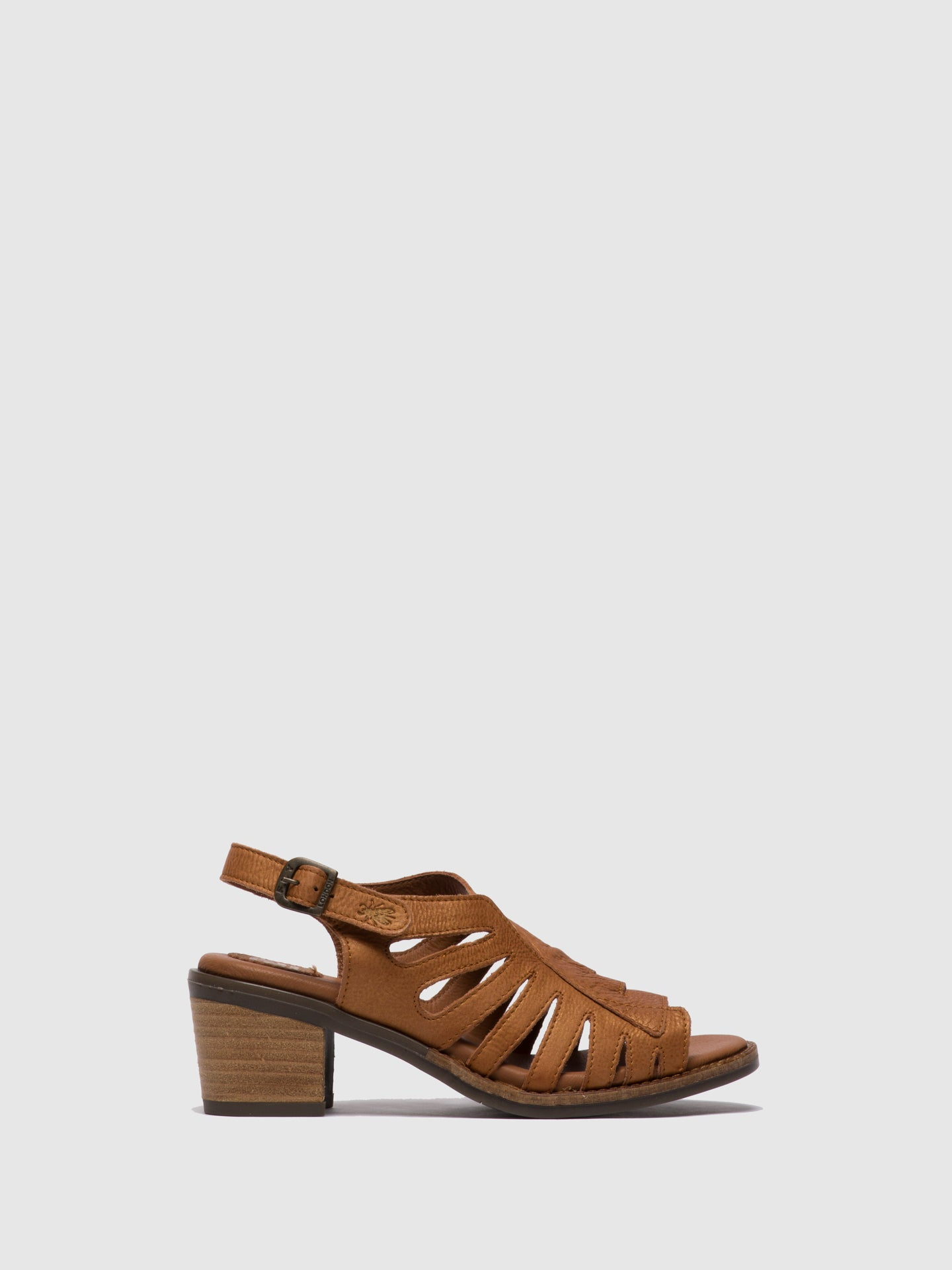 Fly London Brown Open Toe Sandals