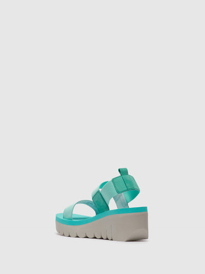Fly London Green Sling-Back Sandals