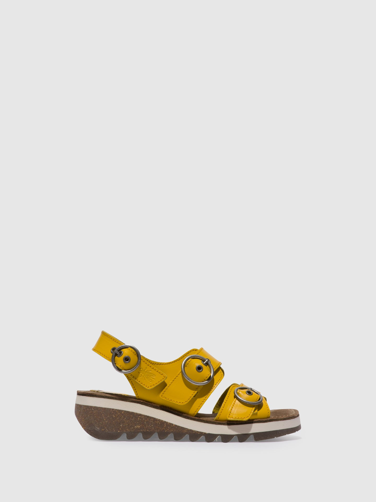 Fly London Yellow Buckle Sandals