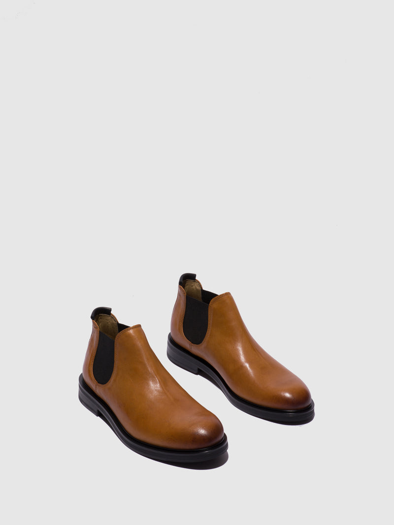 Fly London Camel Chelsea Ankle Boots