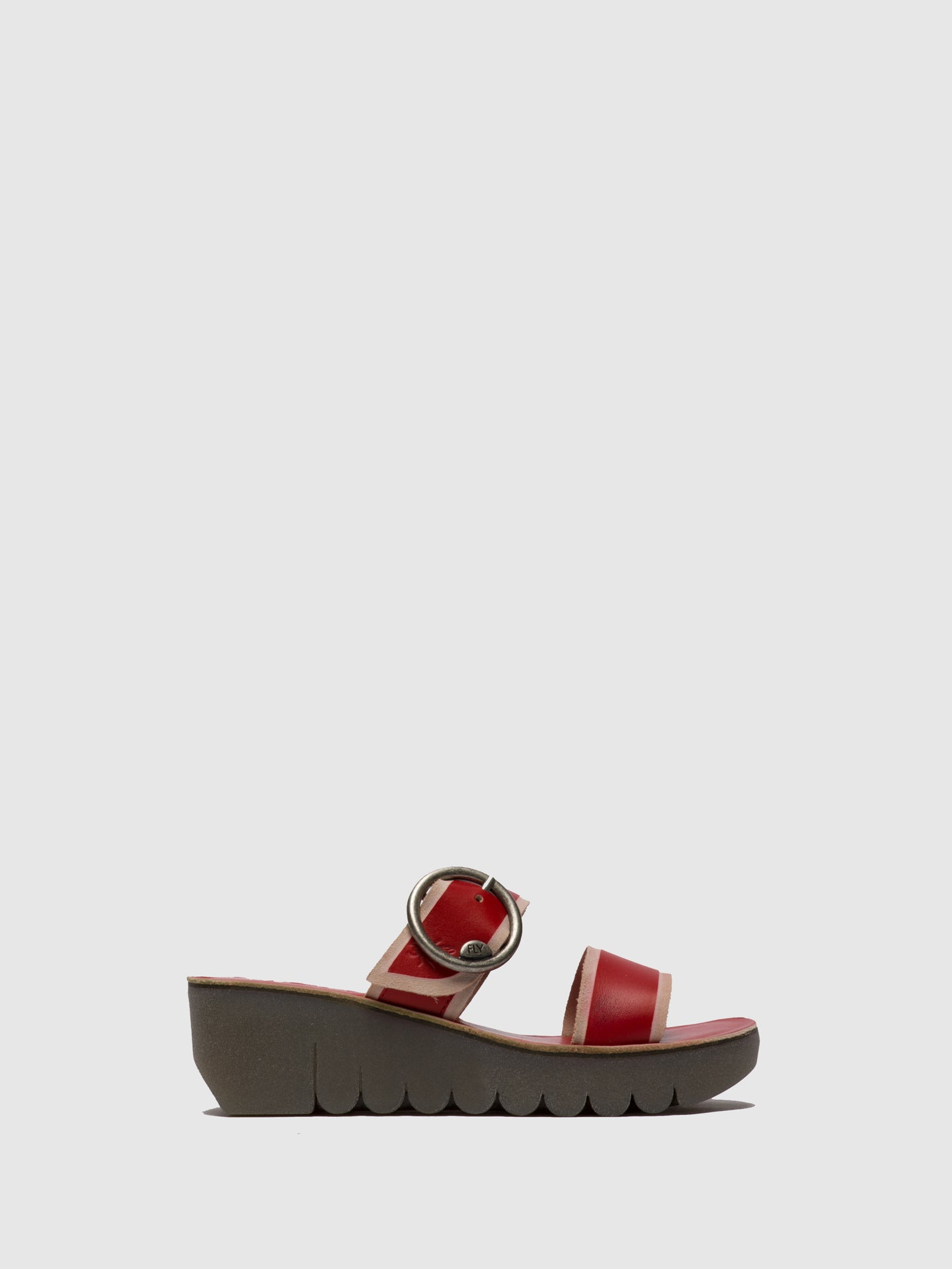 Fly London Red Strappy Mules