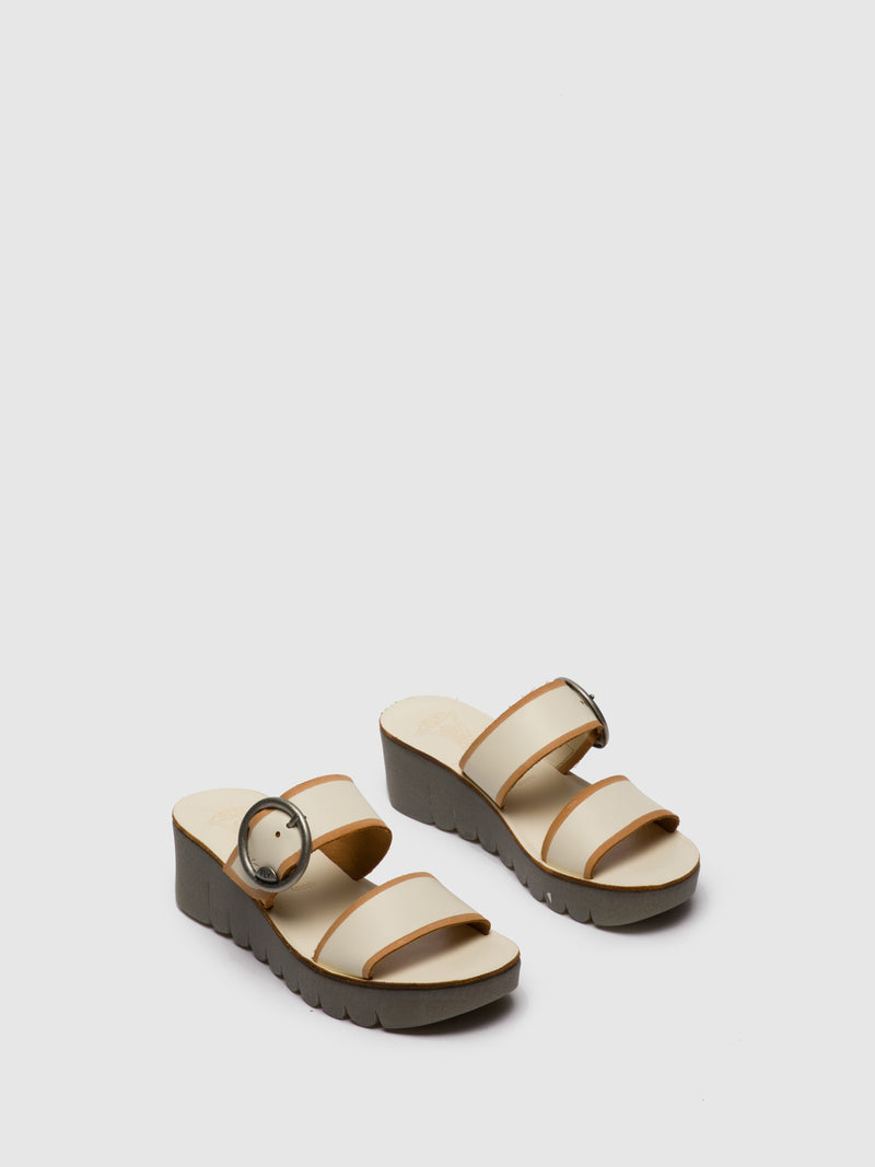 Fly London Wheat Strappy Mules