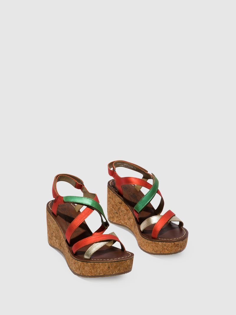 Multicolor Strappy Sandals