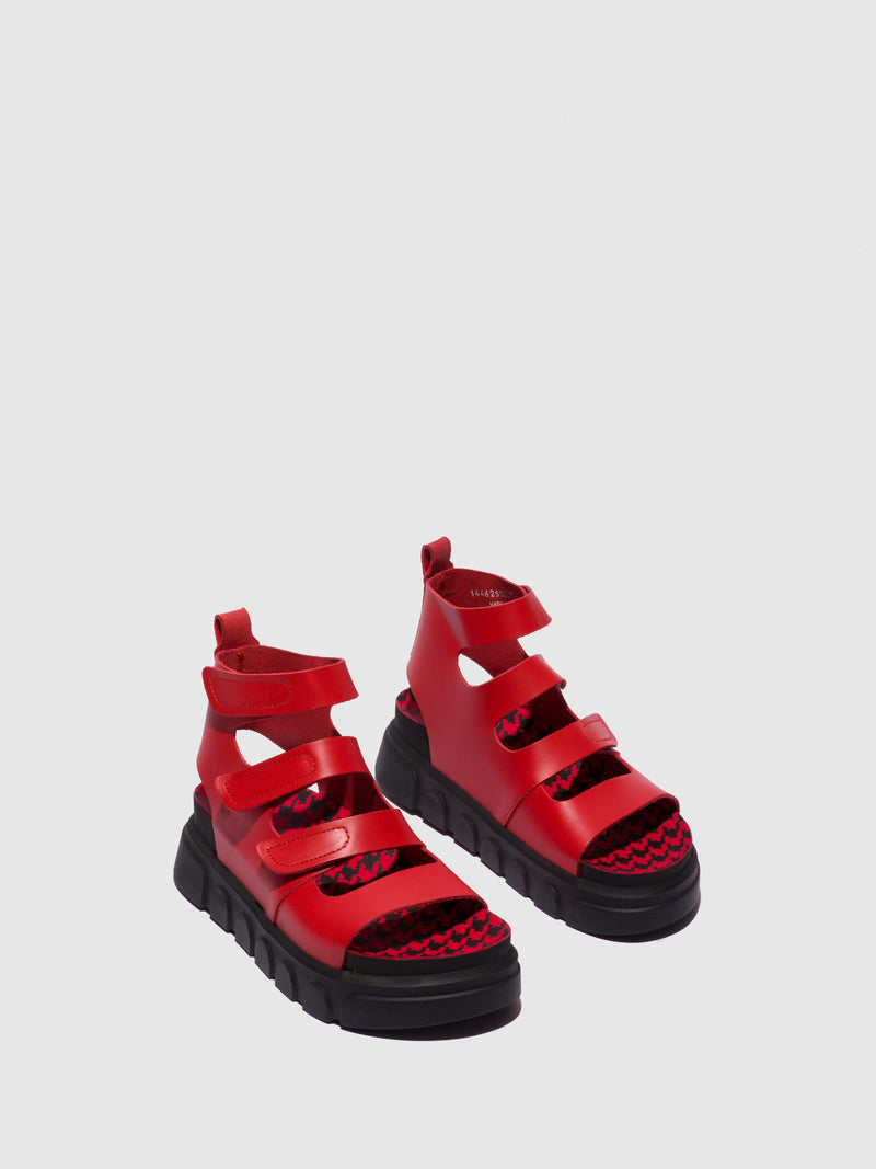 Fly London Red Gladiator Sandals