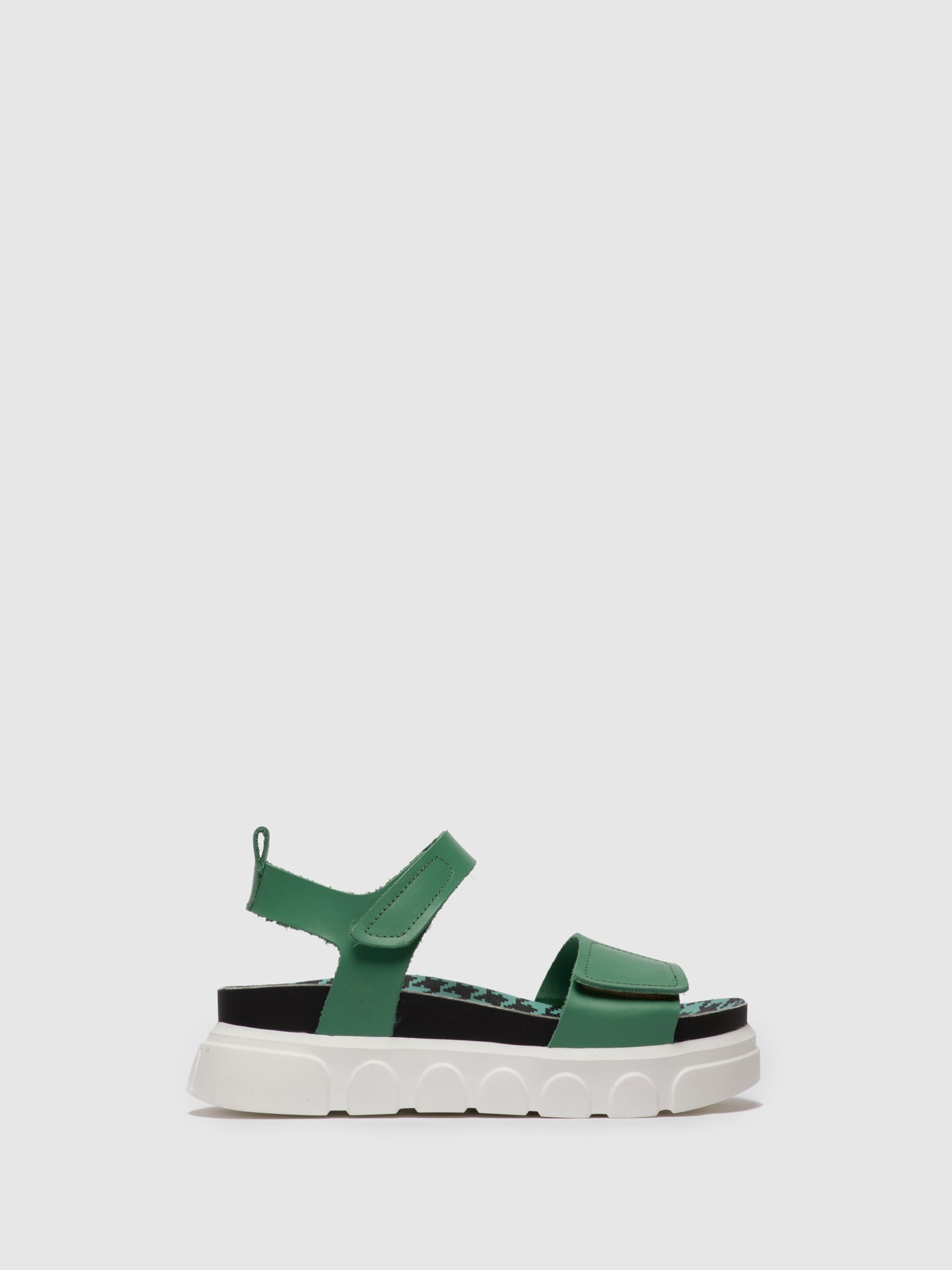 Fly London Green Velcro Sandals