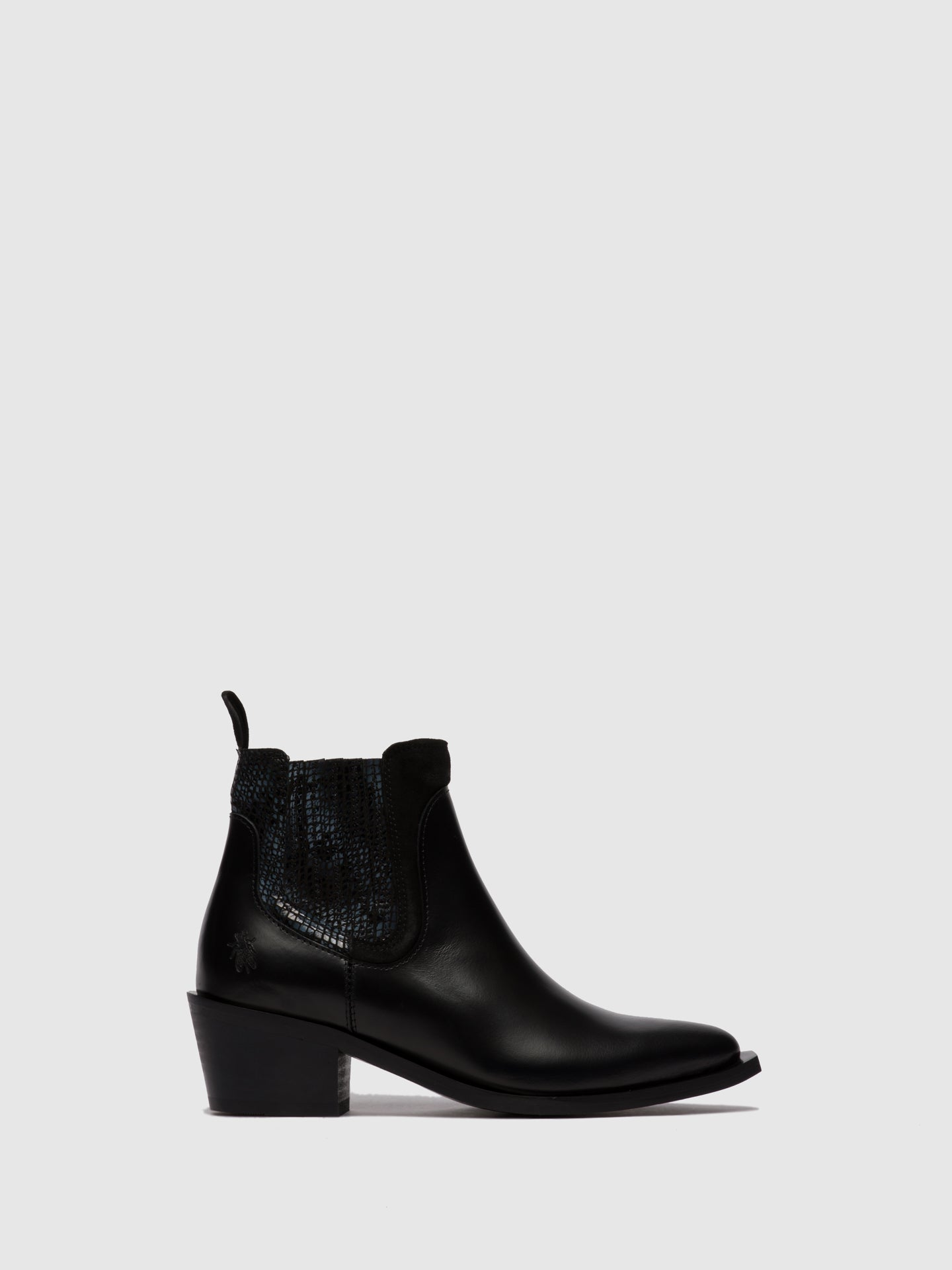 Fly London Chelsea Ankle Boots IATE635FLY GLASSCOMBI BLACK