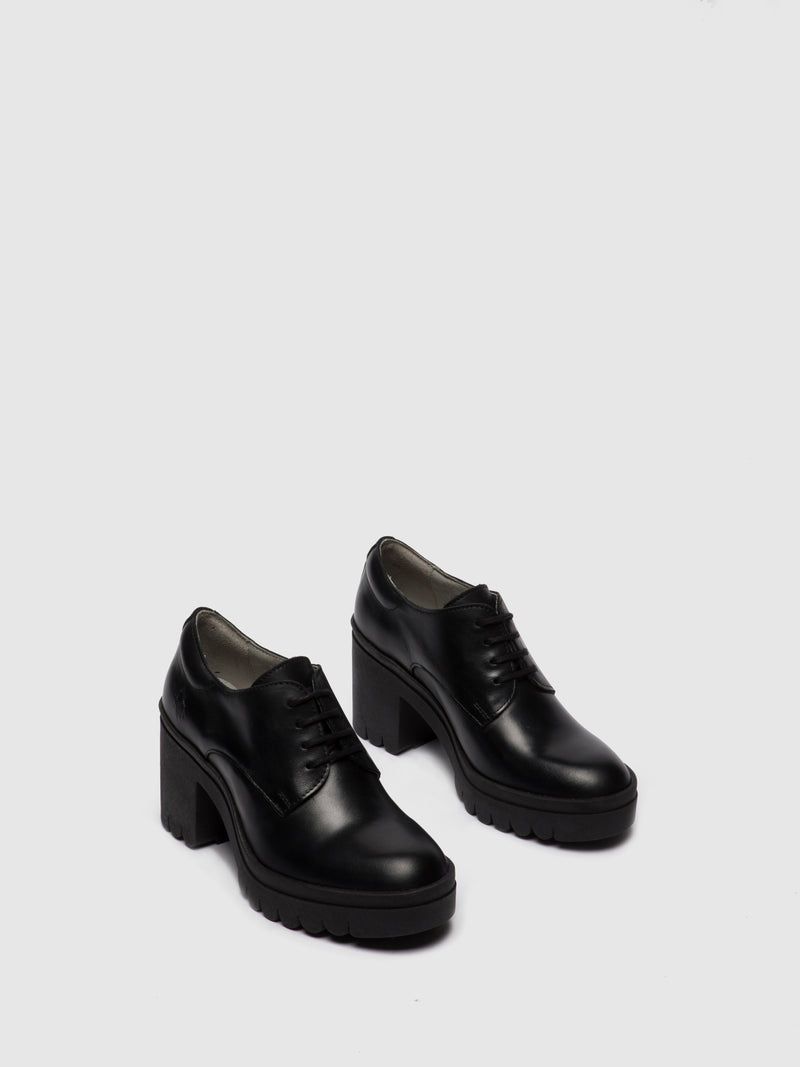 Fly London Lace-up Shoes TAIN645FLY RUG BLACK