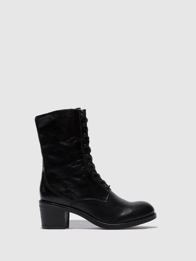Fly London Lace-up Ankle Boots ZETA646FLY COLUMBIA BLACK