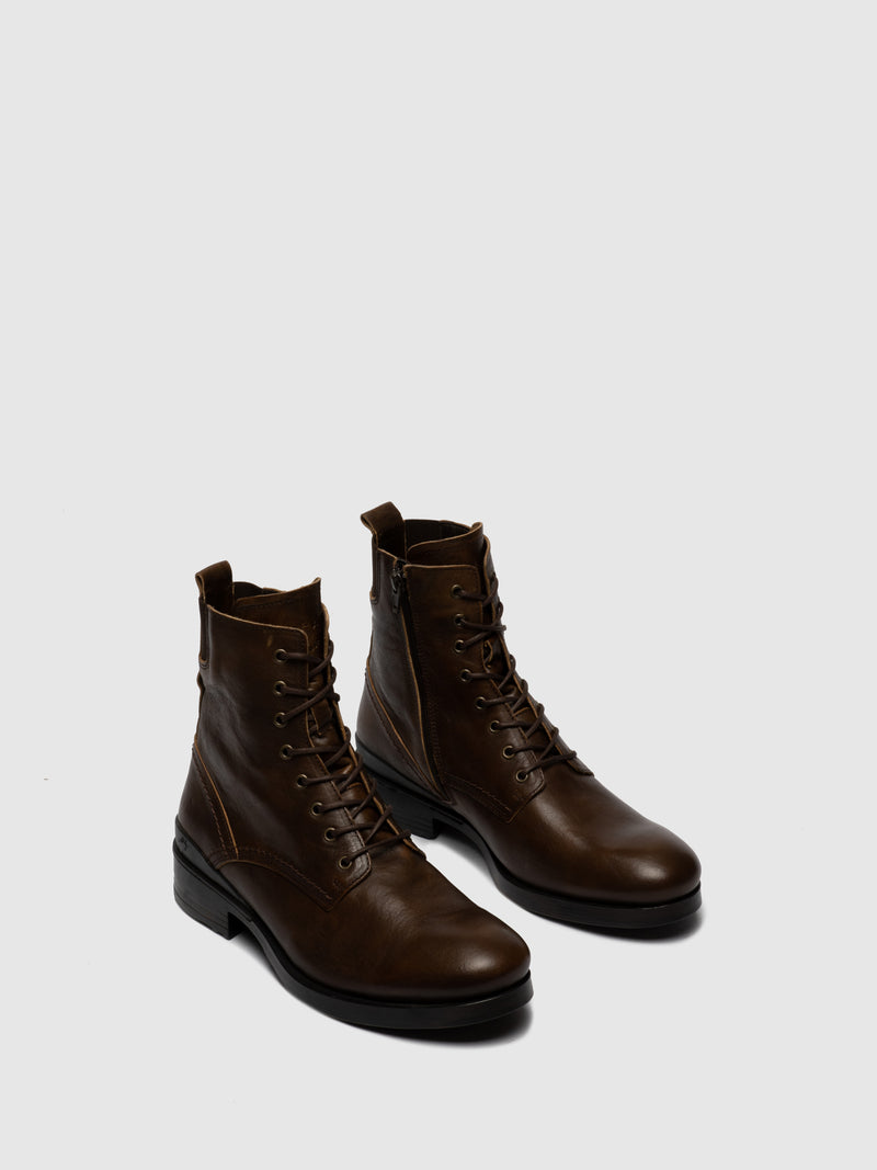Lace-up Ankle Boots MORS650FLY ESTIGMA(VEGETAL) BROWN