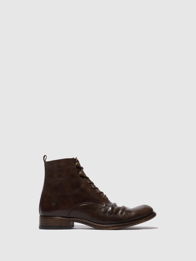 Fly London Lace-up Ankle Boots MYKE660FLY ECO(VEGETAL) MOCCA
