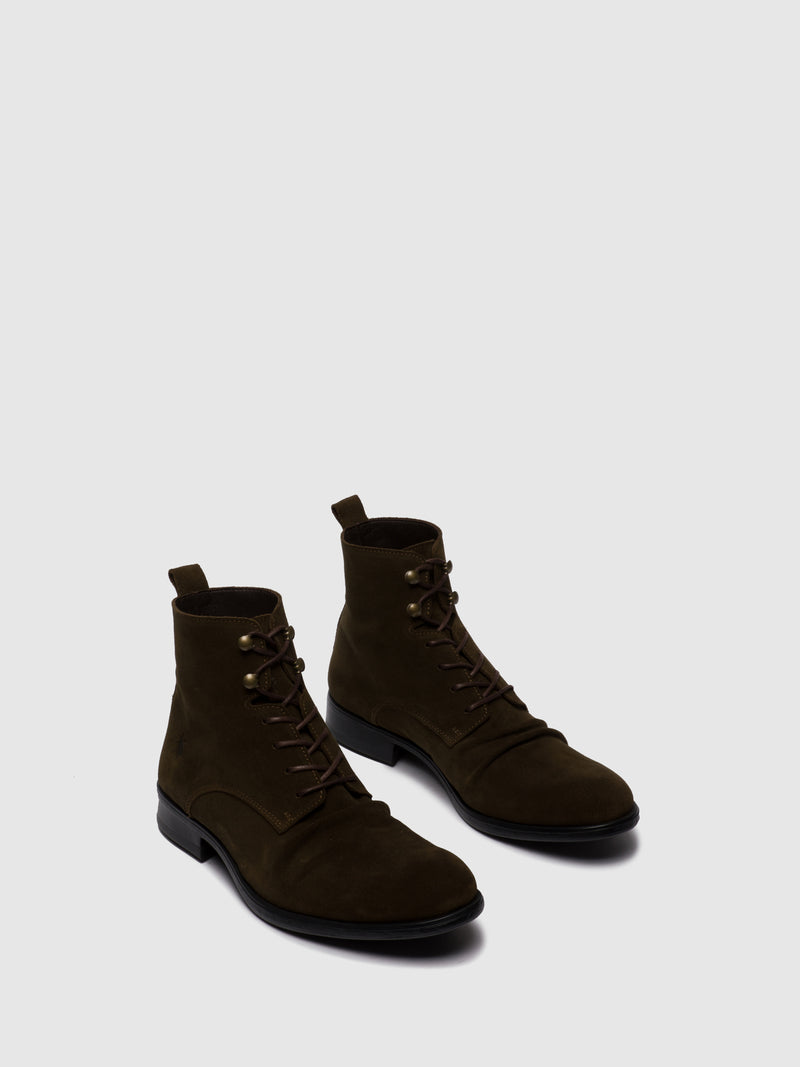 Fly London Lace-up Ankle Boots MYKE660FLY OILSUEDE(VEGETAL) SLUDGE