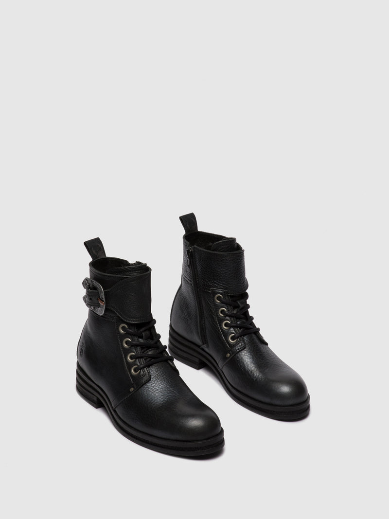 Lace-up Ankle Boots KARA664FLY CICERO BLACK SILVER