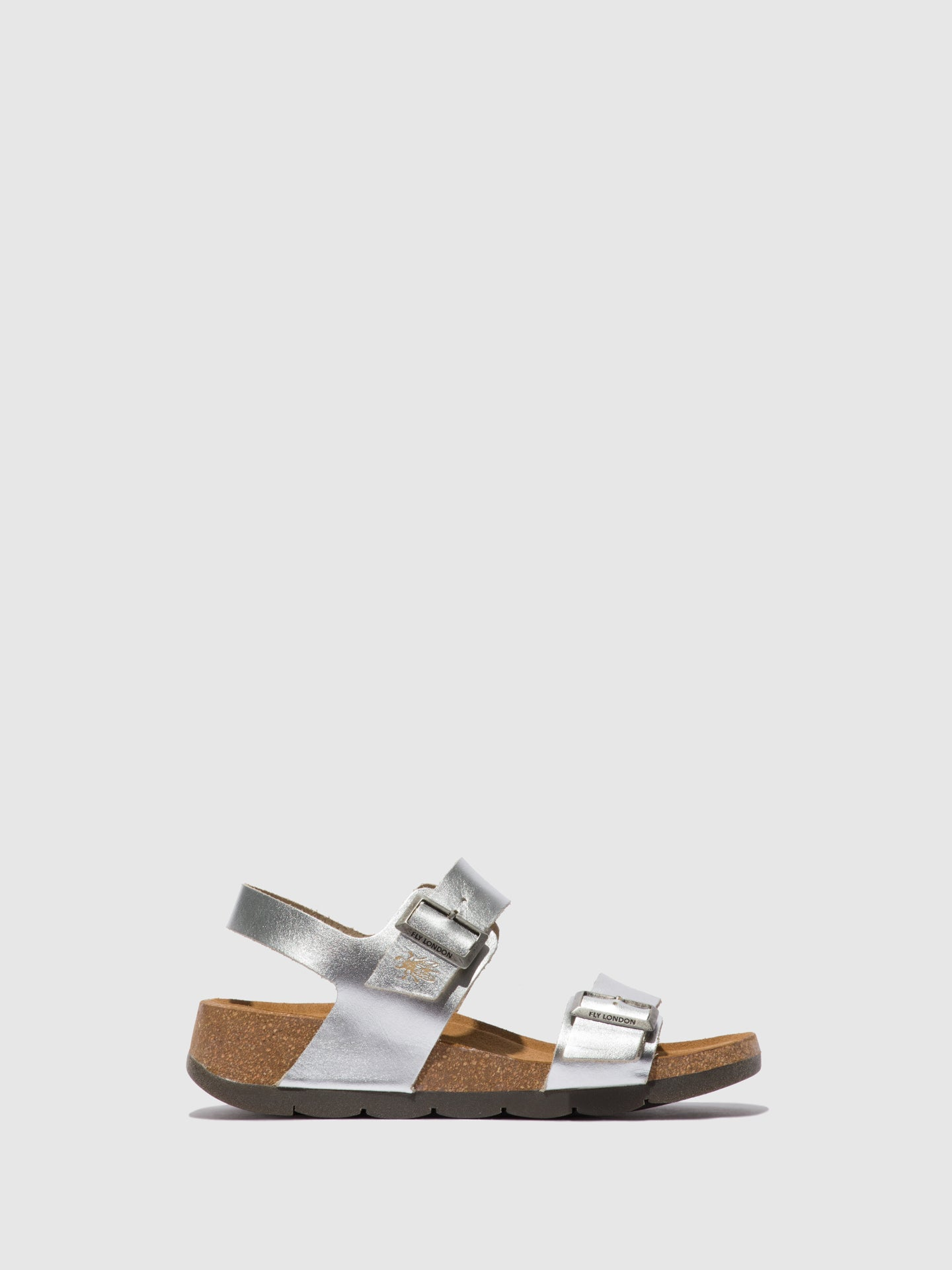Fly London Buckle Sandals CEKE722FLY BRENDA SILVER