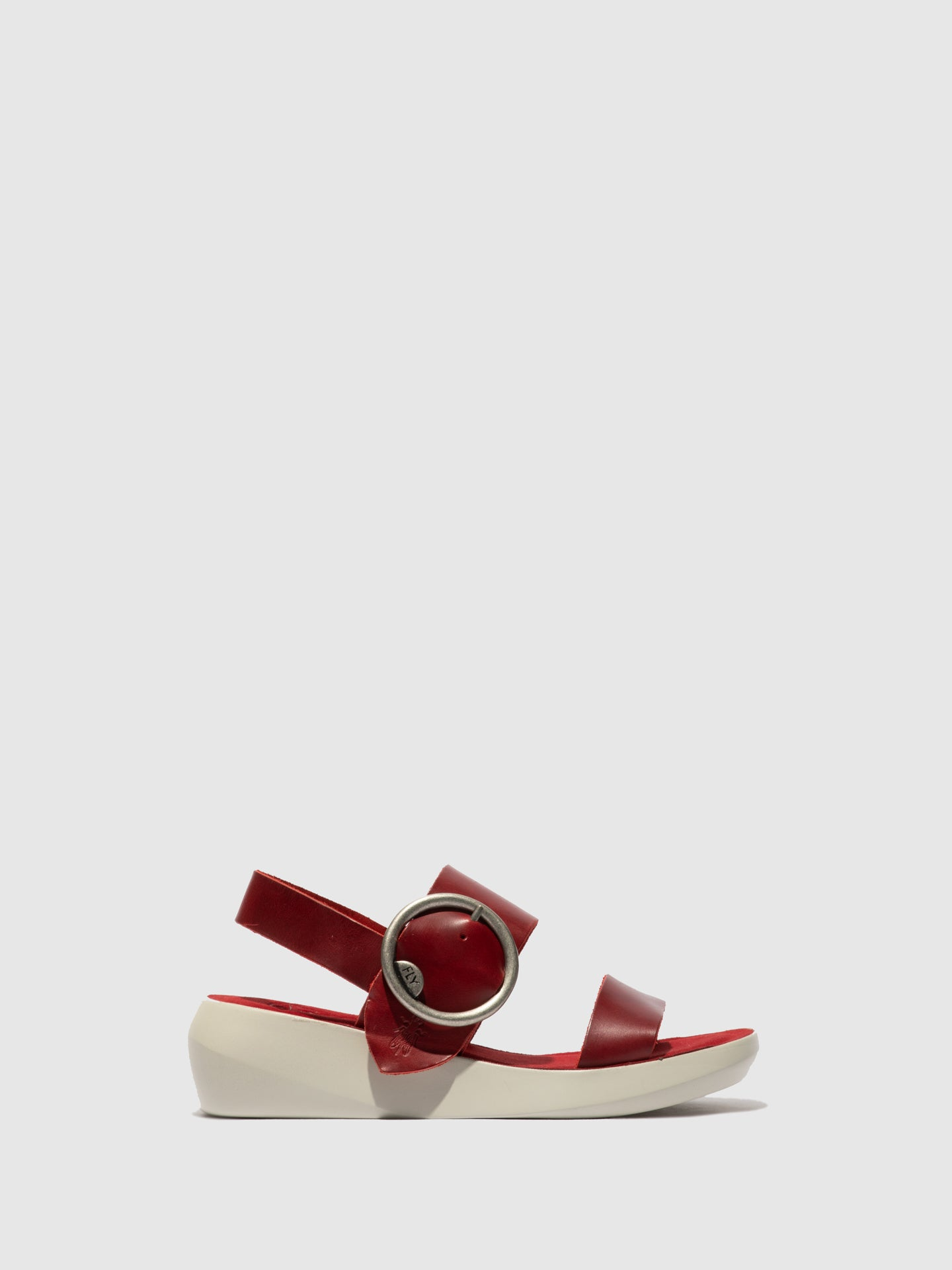 Fly London Buckle Sandals BANI739FLY BRIDLE RED