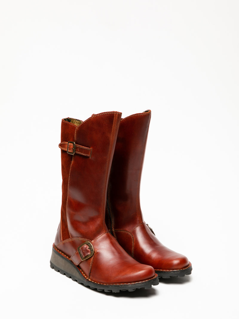 Red Buckle Boots