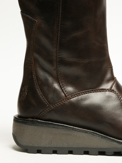 Fly London SaddleBrown Zip Up Boots