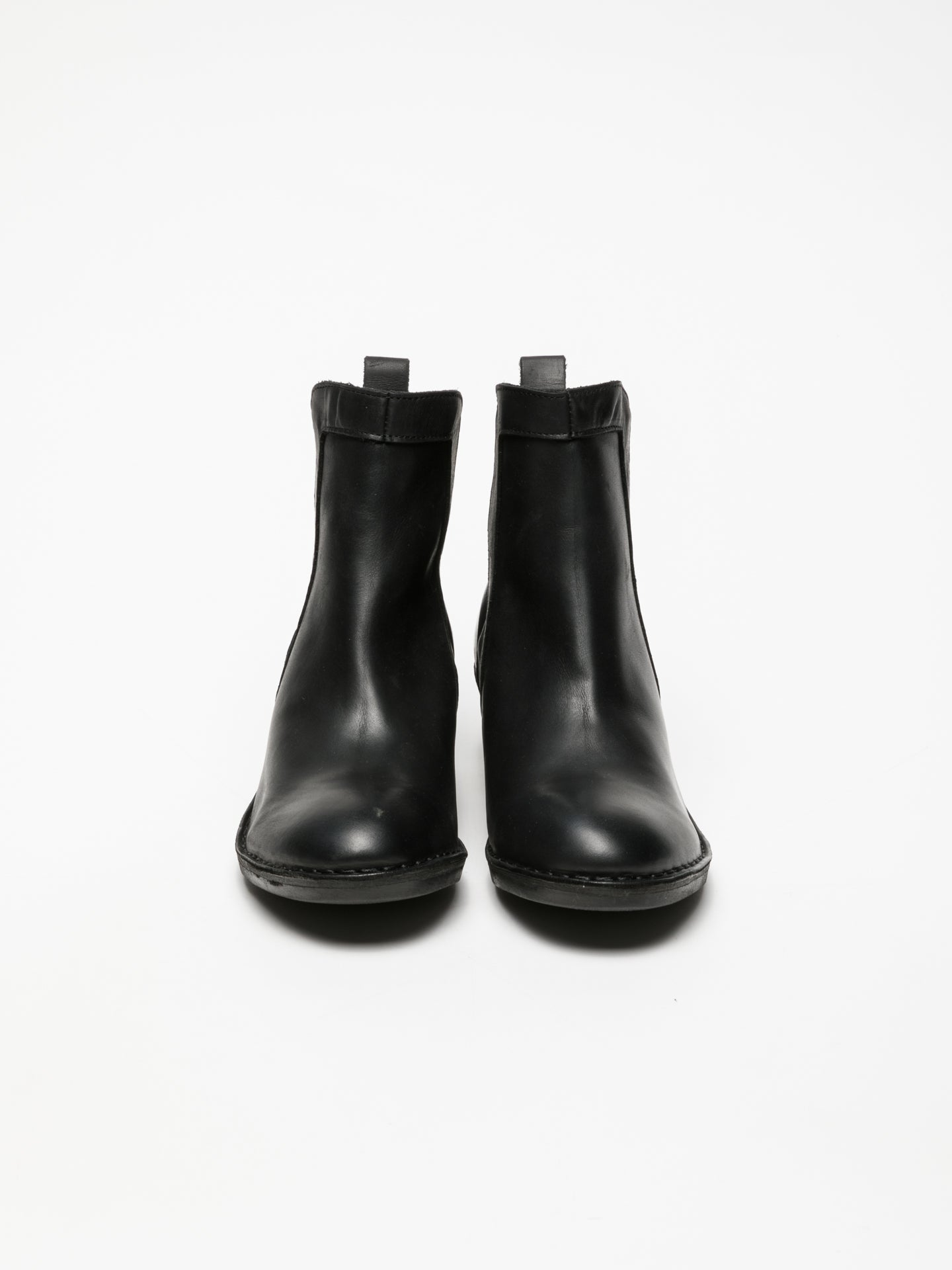 Fly London Black Elasticated Ankle Boots