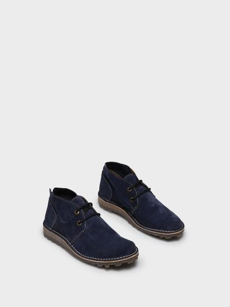 Fly London Blue Lace-up Ankle Boots