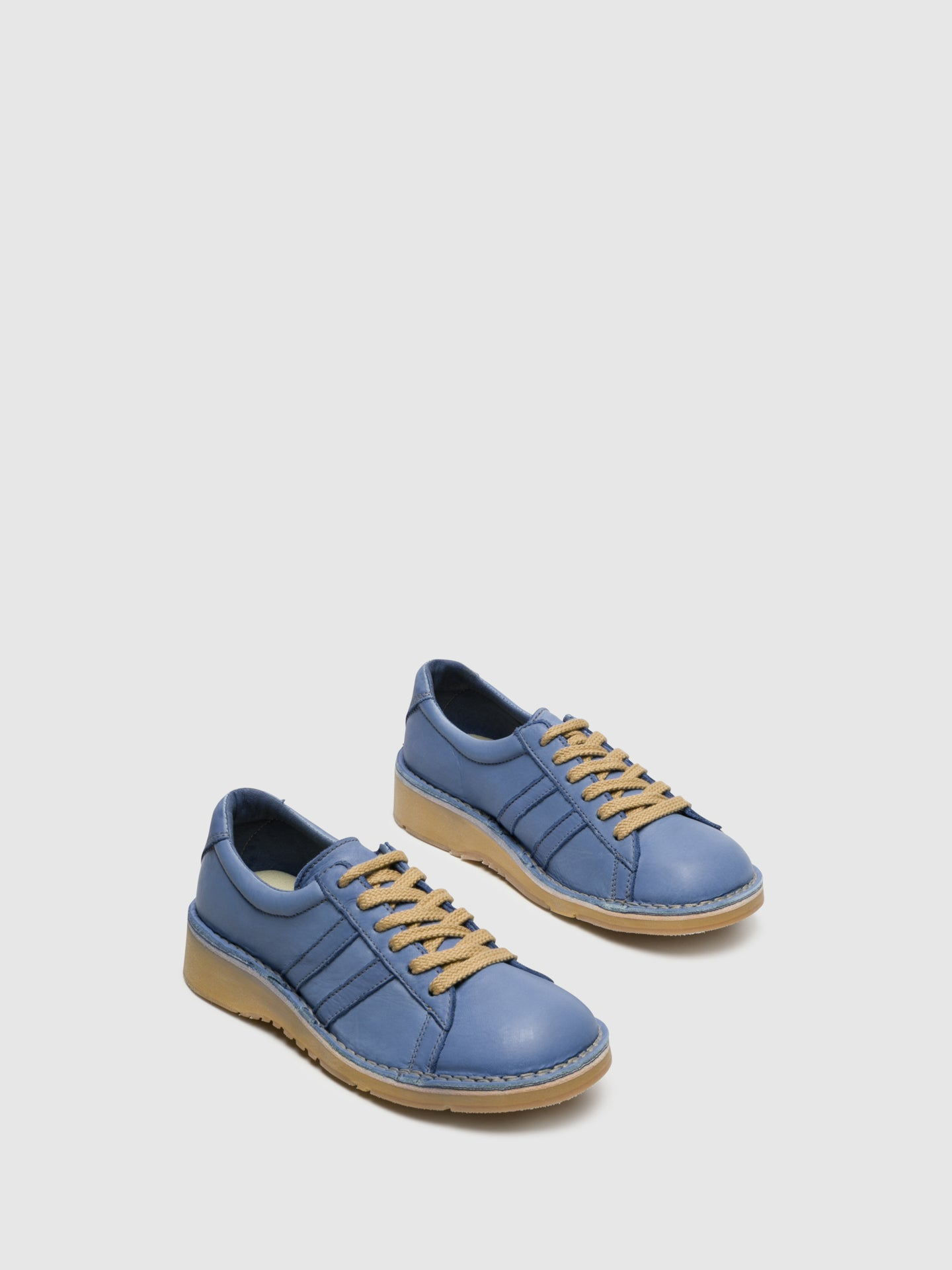 Fly London Blue Lace-up Trainers