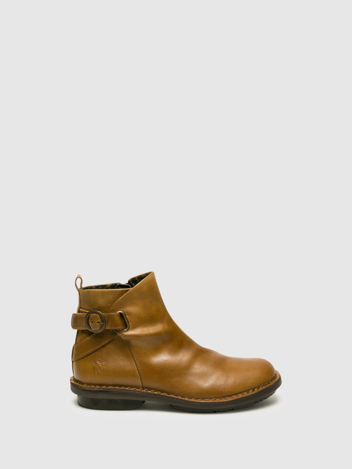 Fly London SandyBrown Buckle Ankle Boots