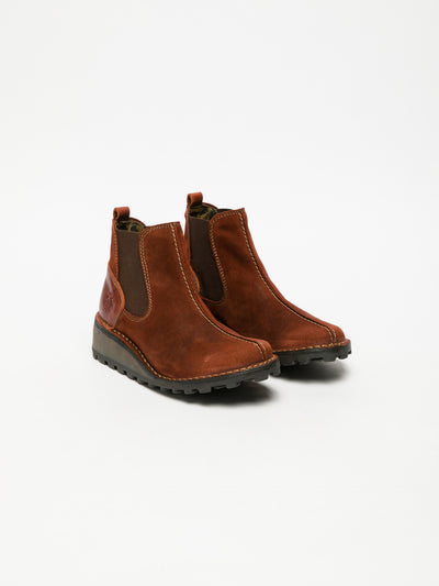 Fly London Red Chelsea Ankle Boots