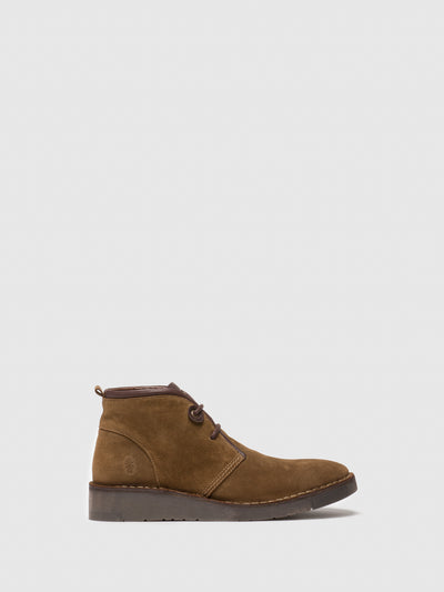 Fly London Tan Lace-up Ankle Boots
