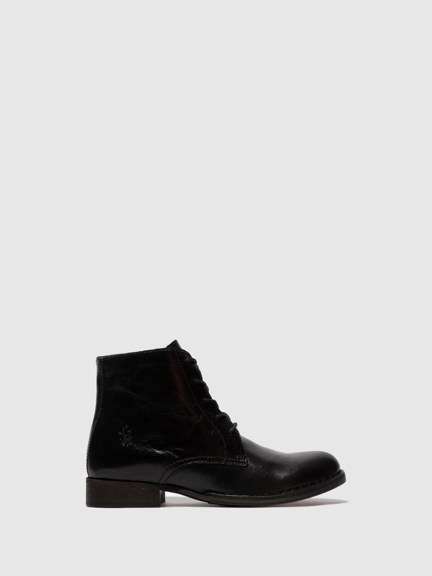 Fly London Lace-up Ankle Boots ROOT045FLY COLUMBIA BLACK