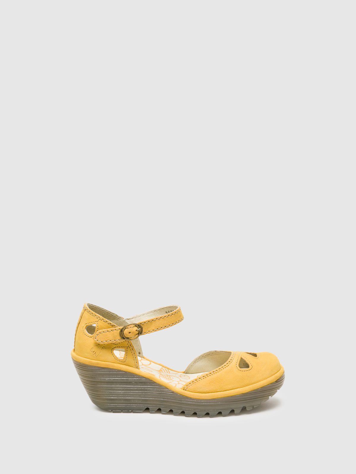 Fly London LightYellow Buckle Sandals