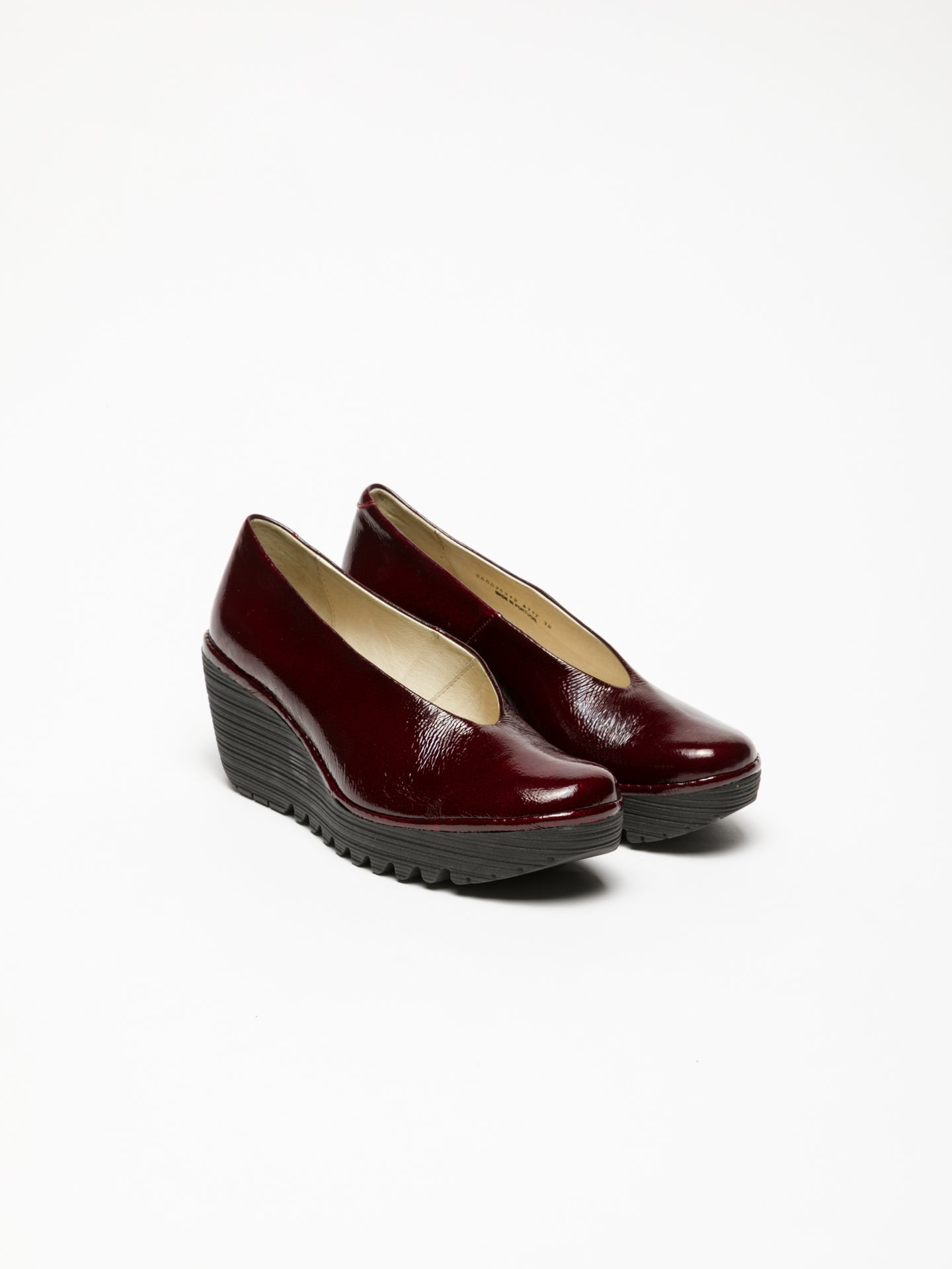 Fly London DarkRed Wedge Shoes