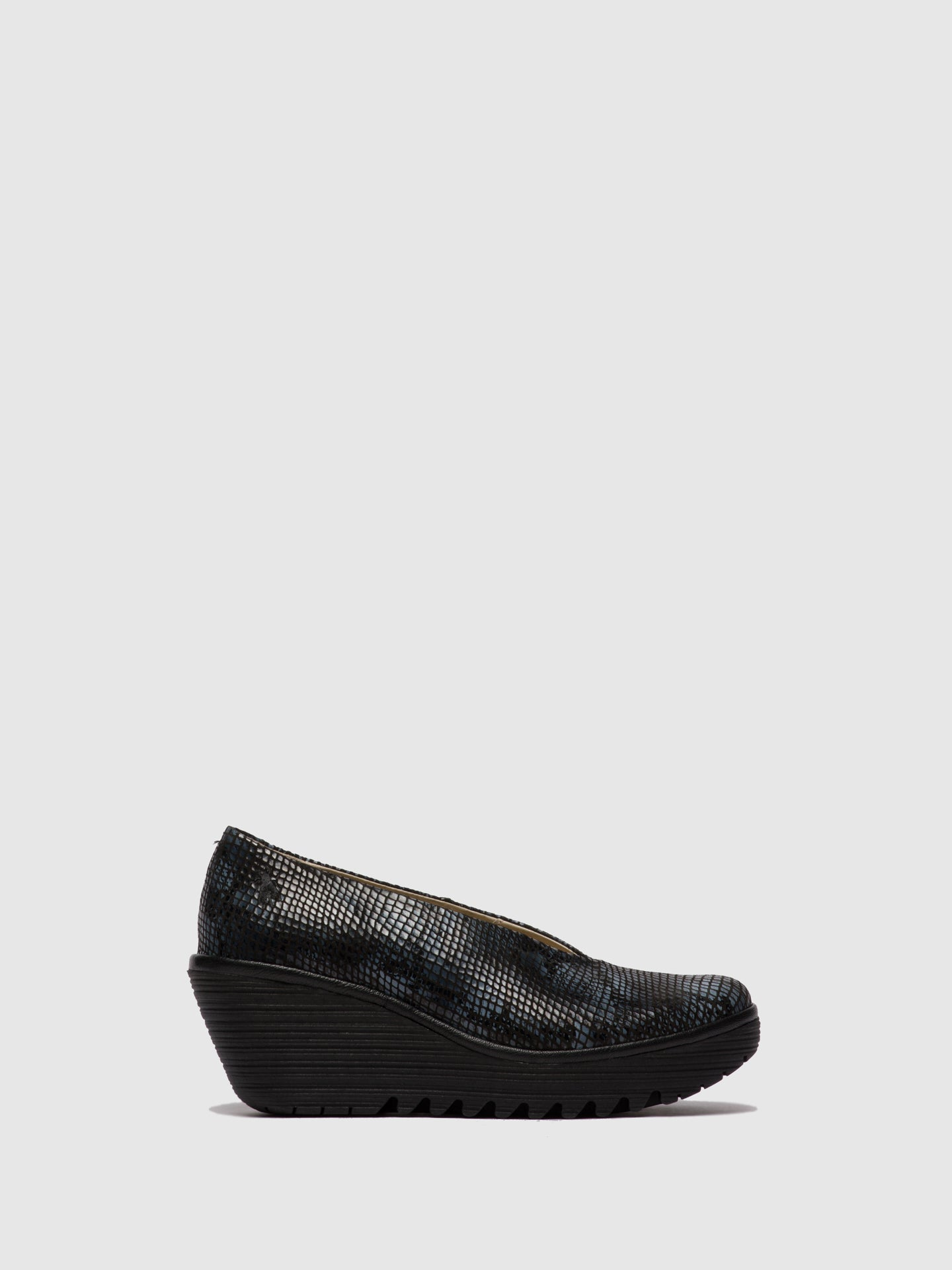 Fly London Slip-on Shoes YAZ SNAKE - BLACK/GREY