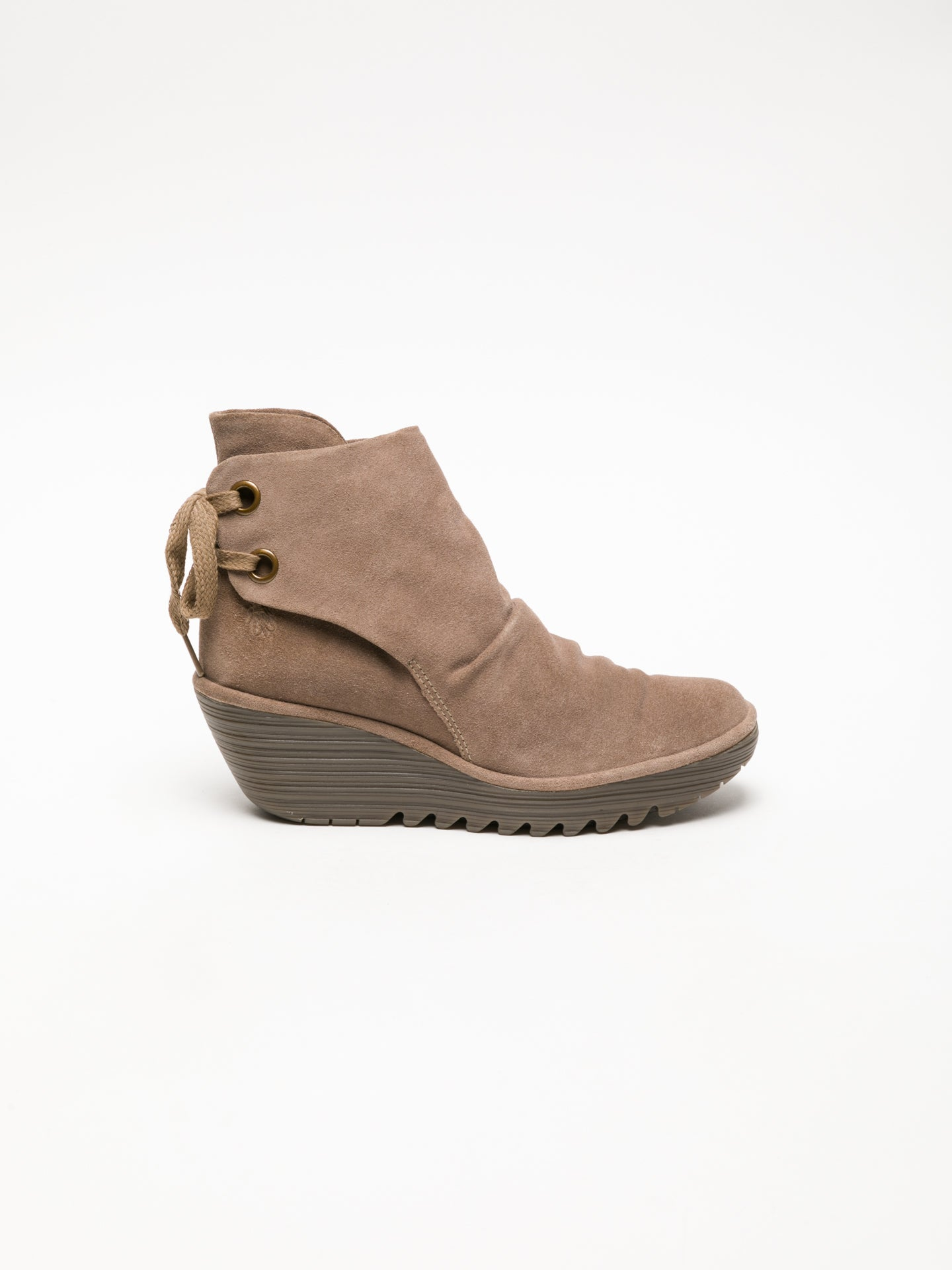 Fly London Tan Wedge Ankle Boots