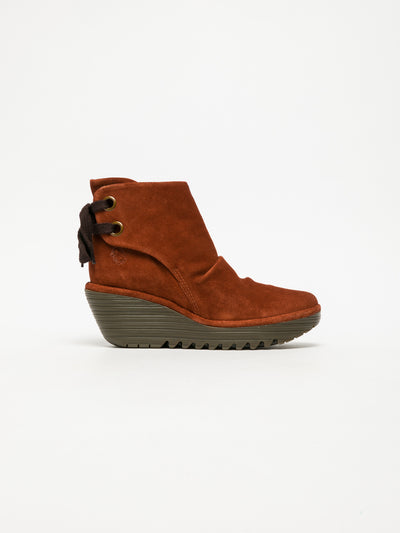 Fly London Firebrick Wedge Ankle Boots