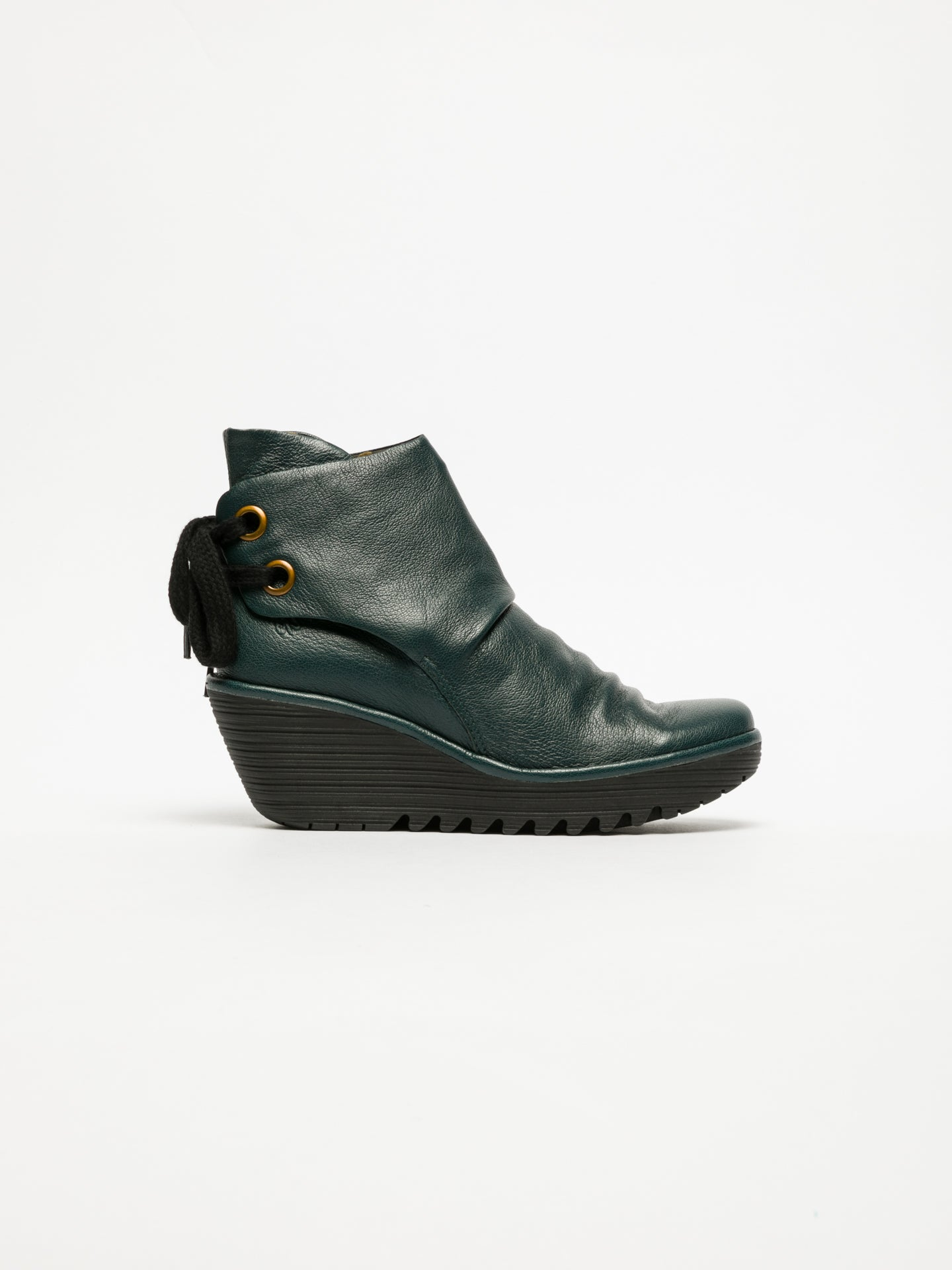 Fly London DarkGreen Wedge Ankle Boots