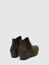 Fly London SaddleBrown Wedge Ankle Boots