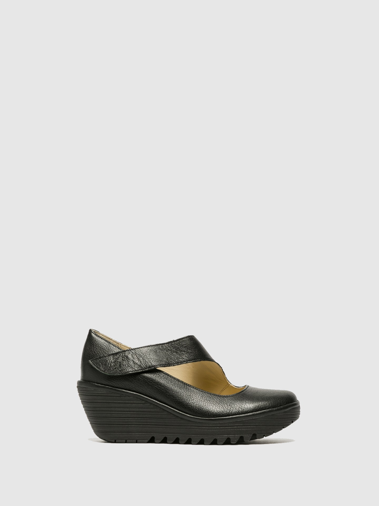 Fly London Black Wedge Shoes