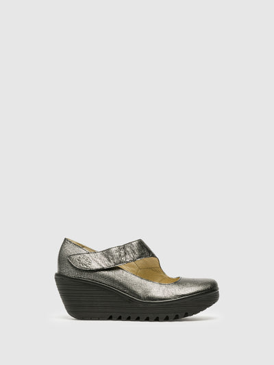 Fly London LightGray Wedge Shoes