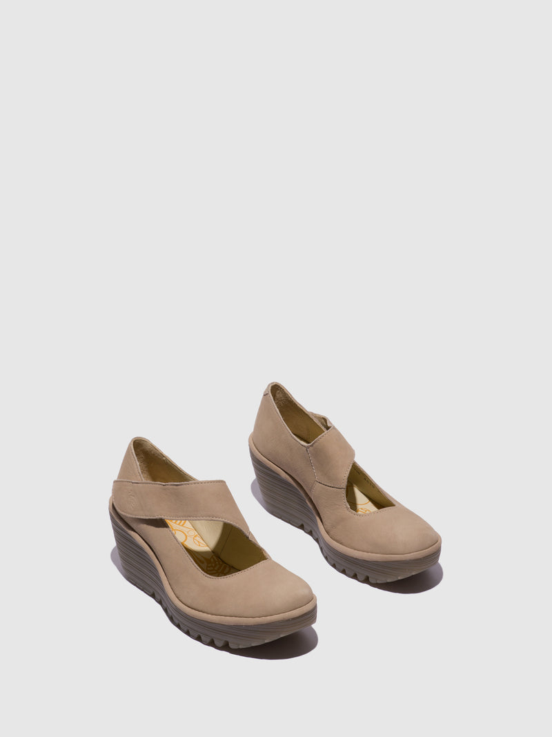 Fly London Wheat Wedge Shoes