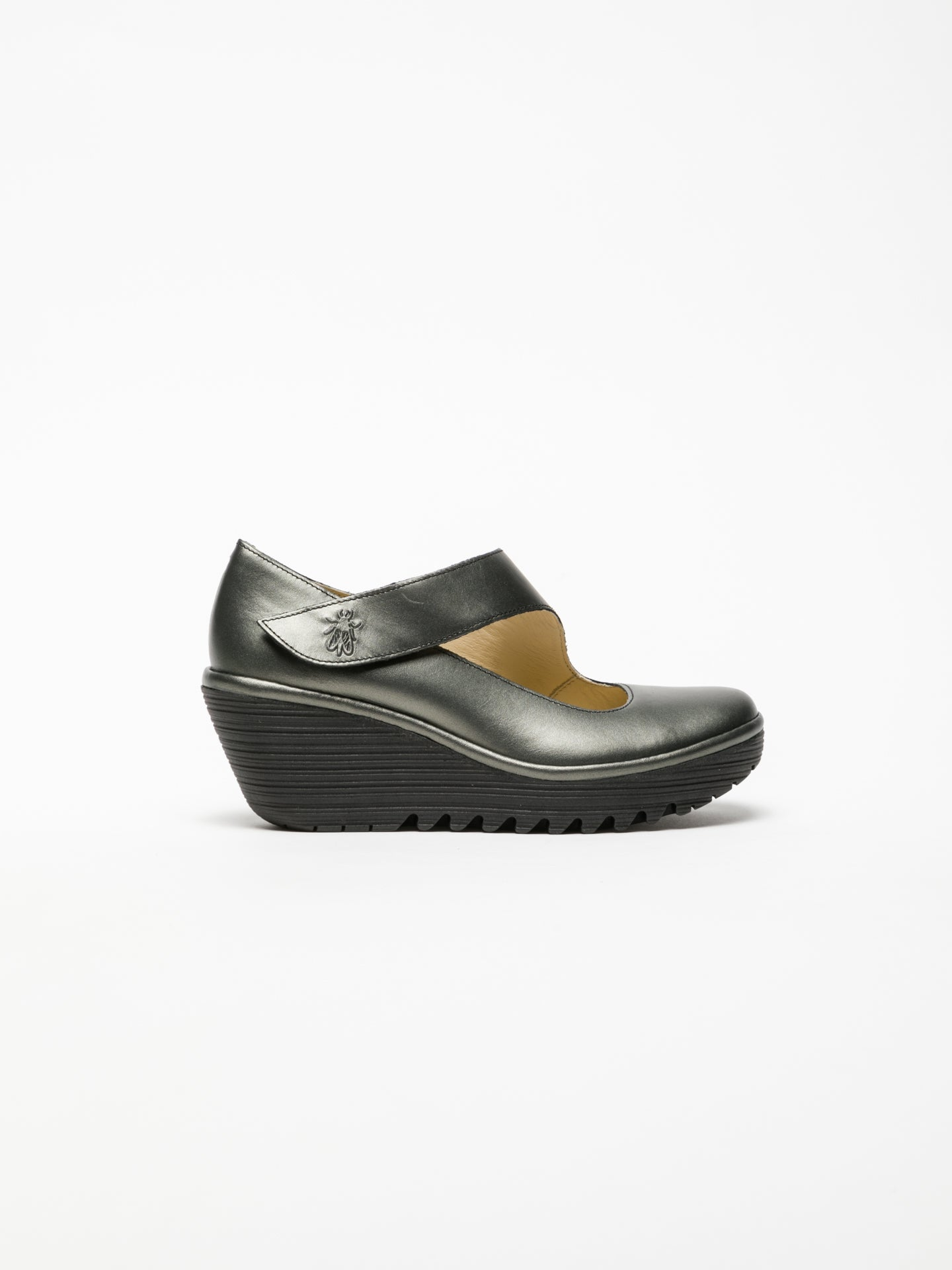 Fly London Gray Wedge Shoes