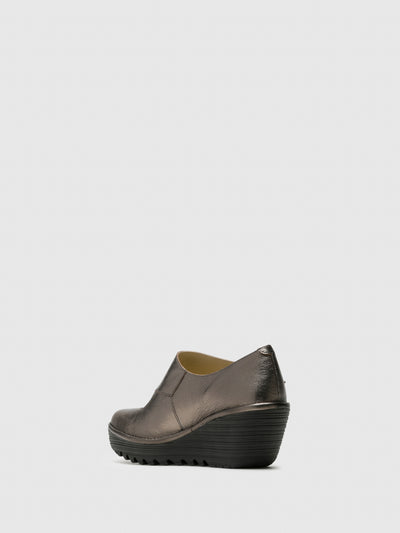 Fly London RosyBrown Wedge Shoes
