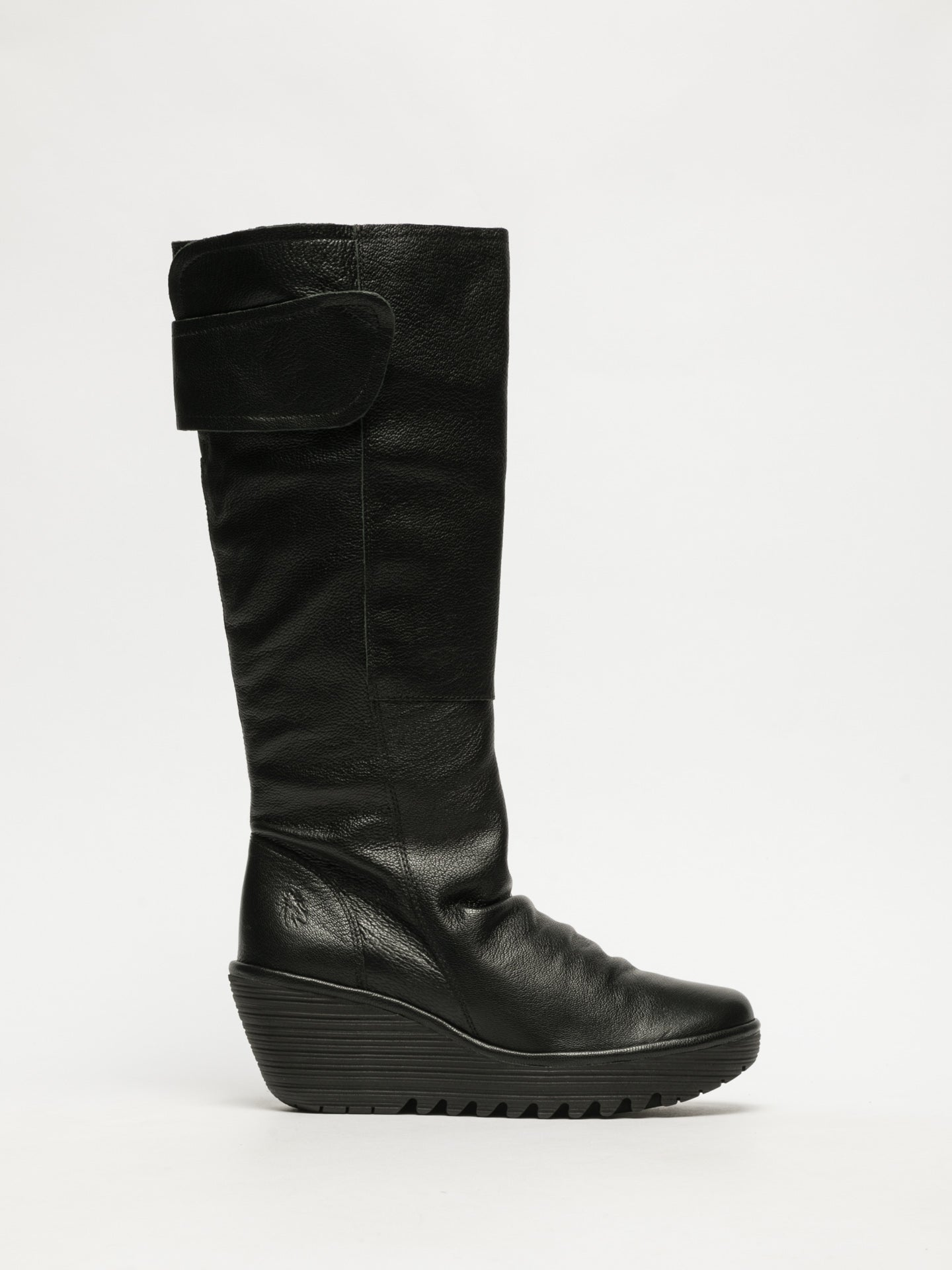 Fly London Black Velcro Boots