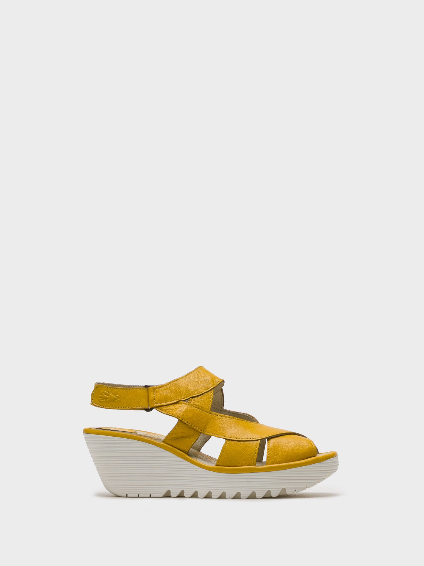Fly London LightYellow Sling-Back Sandals
