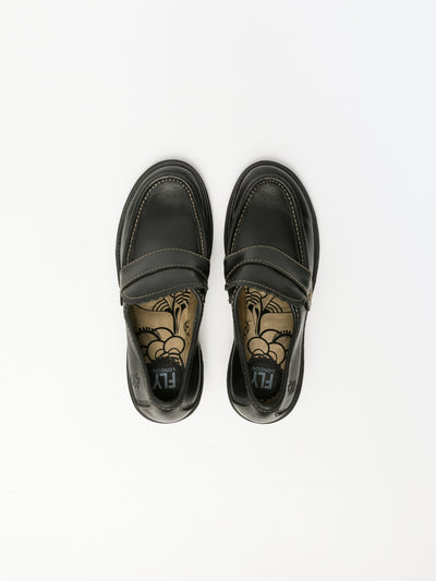 Fly London Black Mocassins Shoes