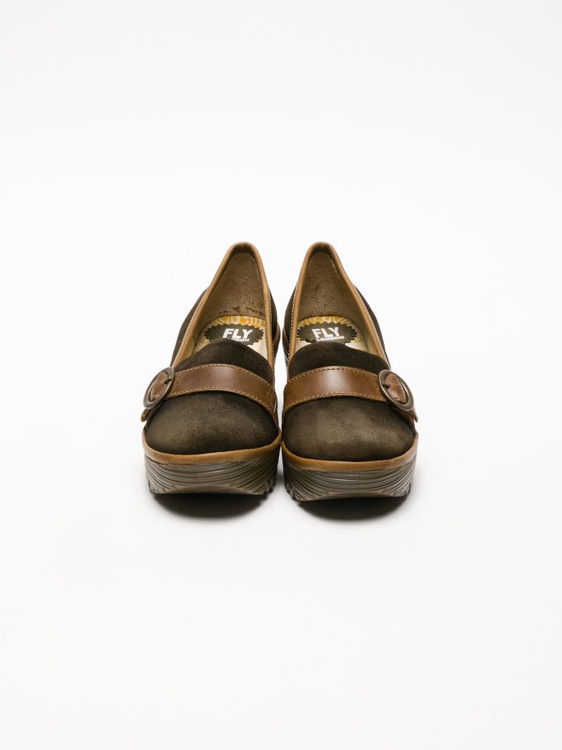 Fly London DarkGreen Monk Shoes